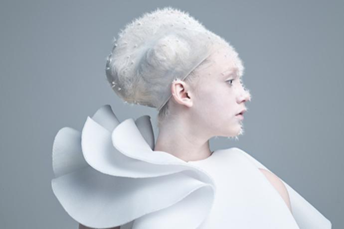 西森由貴が、ザ・ギンザ スペース「銀座の白い森」展示作品ヘアメイクを担当!