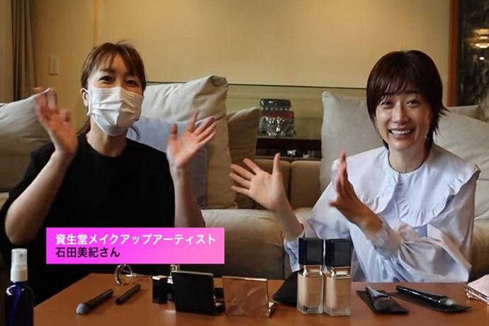 石田美紀がYouTubeチャンネル「ヨンアTV」に出演、クレ・ド・ポー ボーテの新商品を紹介!